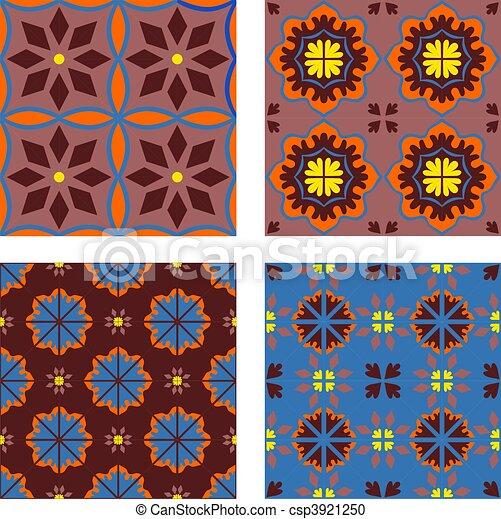 Illustration de carreau dessin plancher carrelage for Carrelage oriental