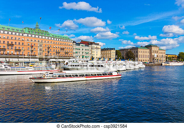 The Old Town in Stockholm - csp3921584