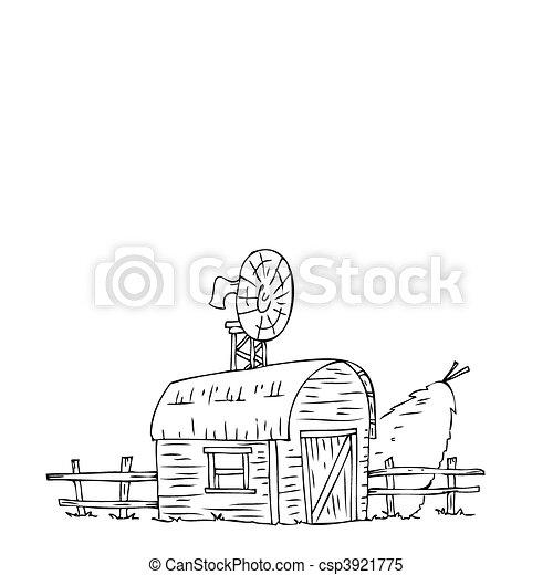 Clipart vettoriali di paglia casa covone granaio for Piani di casa di balle di paglia gratis
