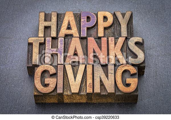 Happy Thanksgiving greeting card - csp39220633