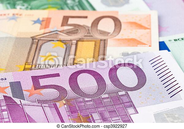 Many Euro Banknotes - csp3922927