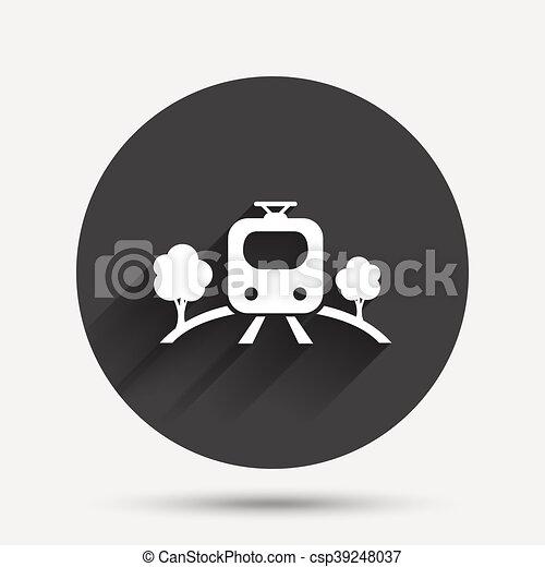 Overground sign icon. Metro train symbol. - csp39248037