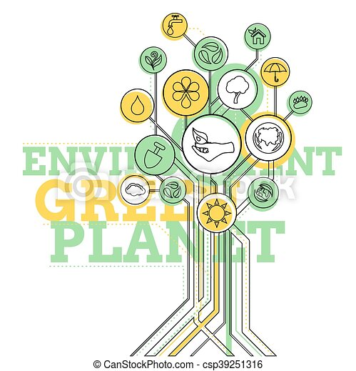 Ecology Infographic. Environment, Green Planet - csp39251316