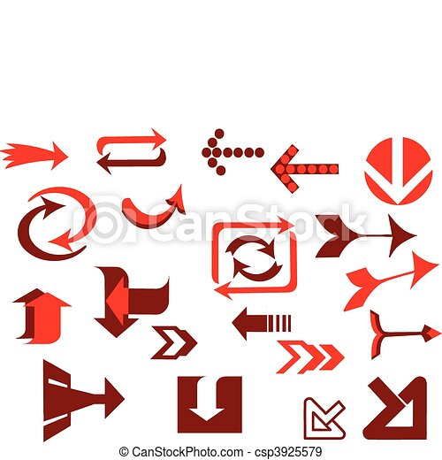 A vector set of red useful arrows-3 - csp3925579