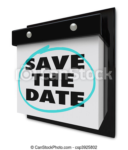 Save the Date - Wall Calendar - csp3925802