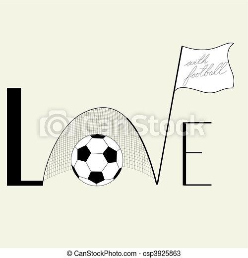Inscription Love - csp3925863
