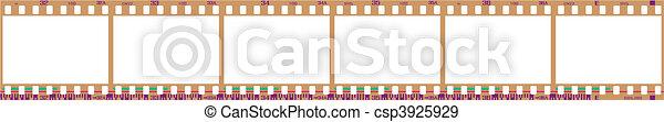 negative filmstrip frames - csp3925929