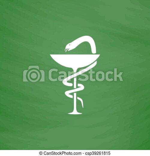 Schüssel clipart  Vektor Clip Art von caduceus, schüssel, apotheke, schlange, symbol ...