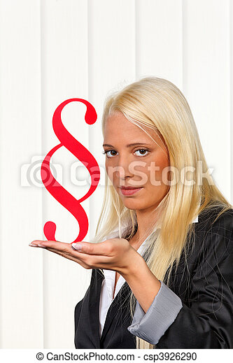 Law student with paragraph symbol - csp3926290