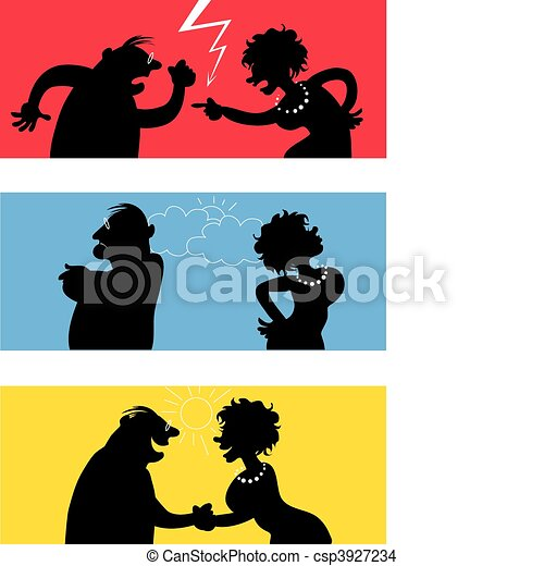 Fighting couple - csp3927234