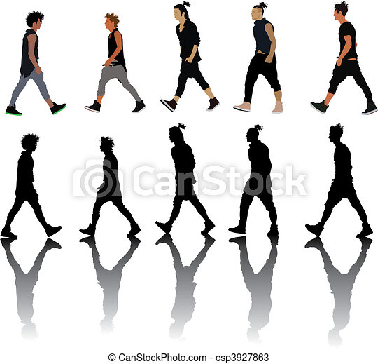 Vectors Of Fashion Show Silhouettes Collection Fashion