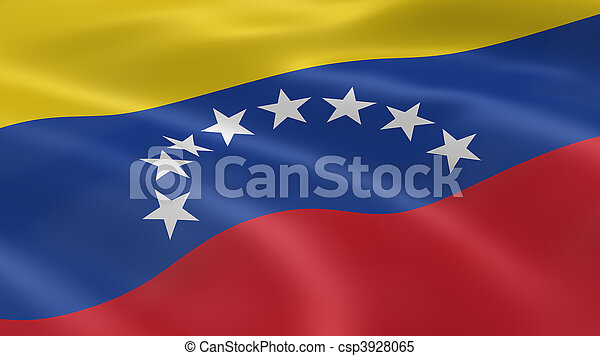 Venezuelan flag in the wind - csp3928065