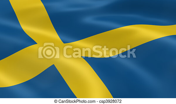 Swedish flag in the wind - csp3928072