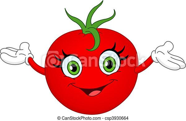Vettore eps di pomodoro allegro cartone animato pomodoro innalzamento csp3930664 cerca - Tomate dessin ...
