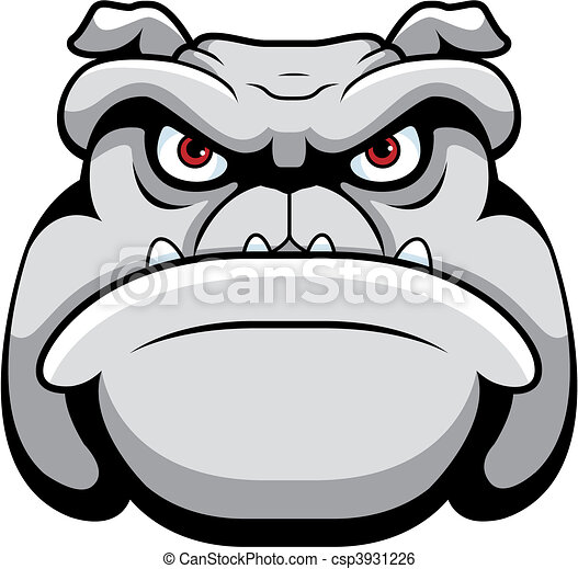 Bulldog Face - csp3931226