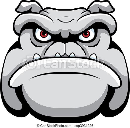 Bulldog Face - csp3931226