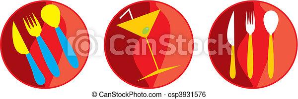 Icon vector gastronomy - csp3931576