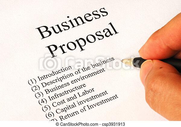 Main topics of a business proposal - csp3931913