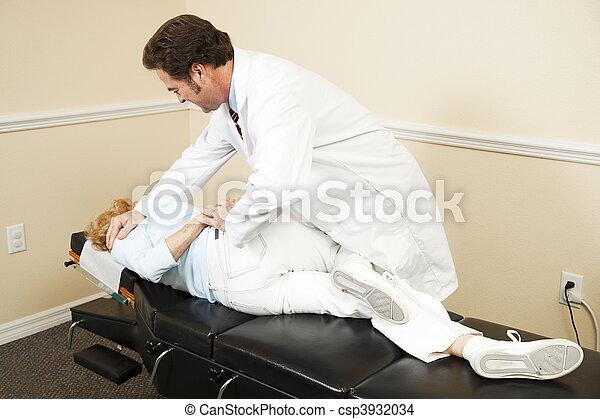 Chiropractic Adjustment - csp3932034