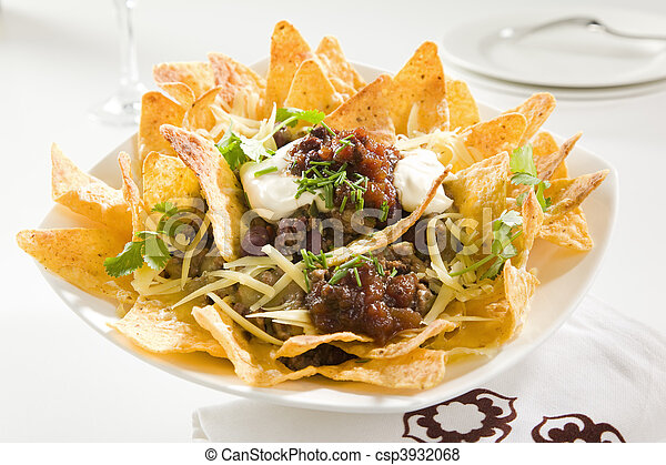 Tasty Crunchy Nachos - csp3932068