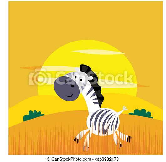 Africa animals: Cute cartoon africa - csp3932173