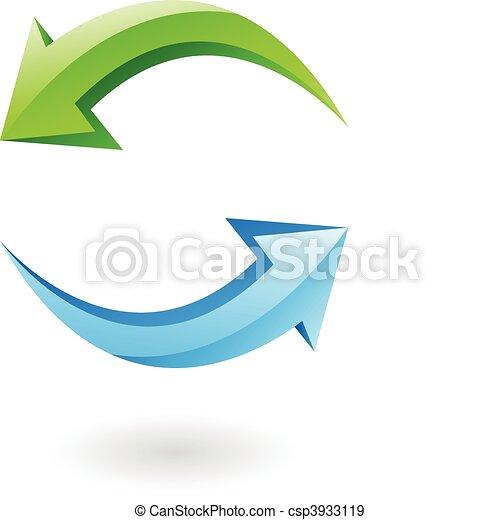 3d refresh icon - csp3933119