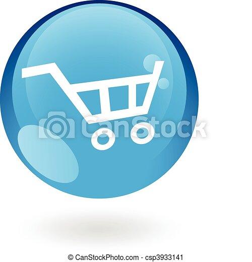 Blue cart - csp3933141