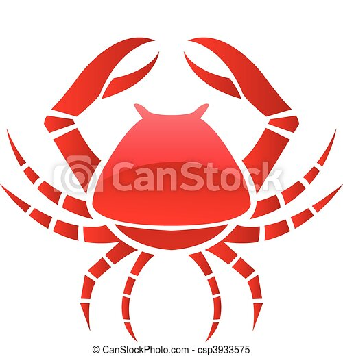 King Crab Clipart Red Glossy Crab Clipart Vector