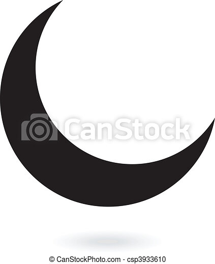 Clipart Vecteur De Noir Lune Black Croissant De Lune