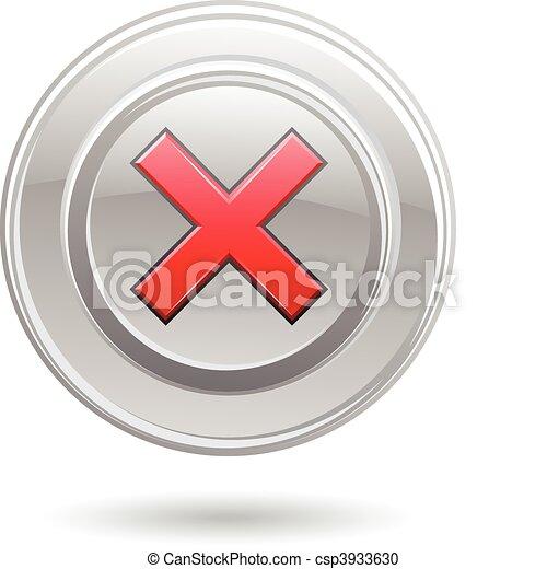 Metallic error sign - csp3933630
