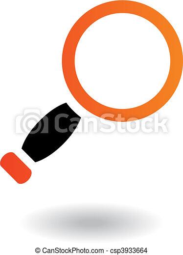 School objects magnifier - csp3933664