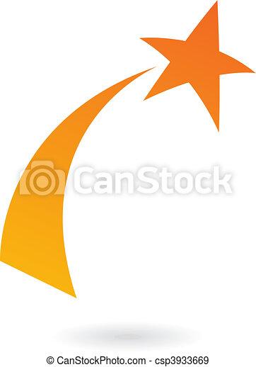 Orange Shooting star - csp3933669