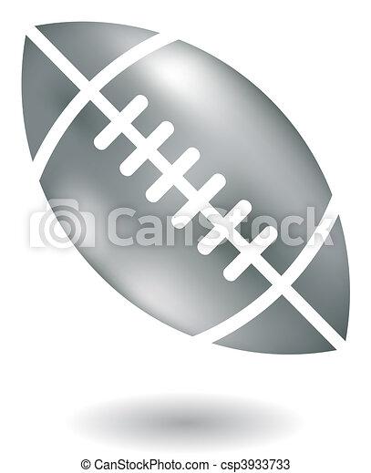 Metallic American Football - csp3933733