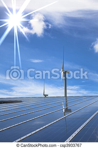 Solar and wind energy for clean environment   - csp3933767