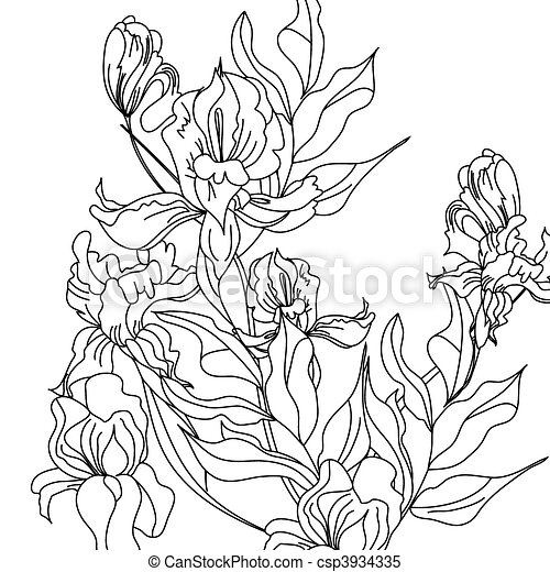 Iris flowers stock illustration royalty free illustrations stock