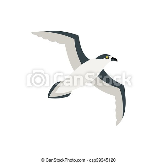 Sea gull icon in flat style - csp39345120