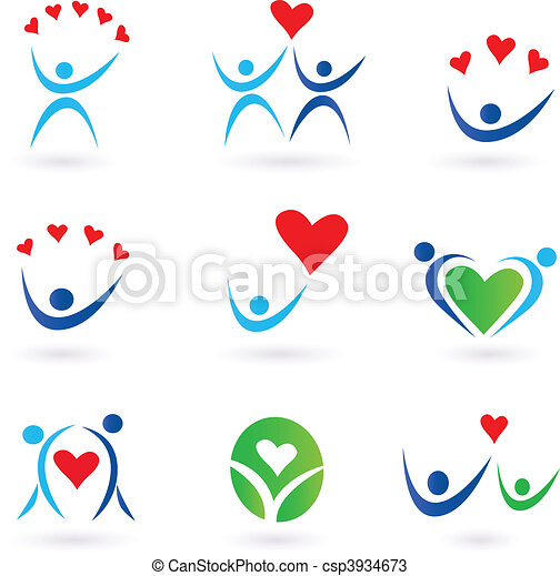 Love and Relationship Icons - csp3934673