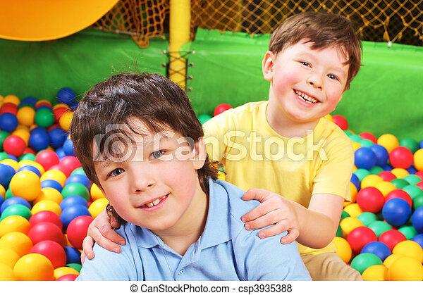 Cheerful siblings - csp3935388