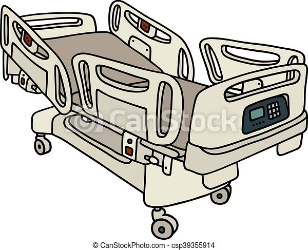 clip art vecteur de position lit h pital hand dessin de a h pital csp39355914. Black Bedroom Furniture Sets. Home Design Ideas