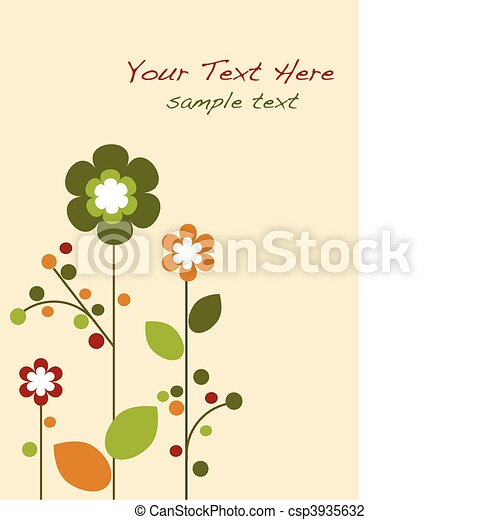 Springtime colorful flowers bloom, template design -1 - csp3935632