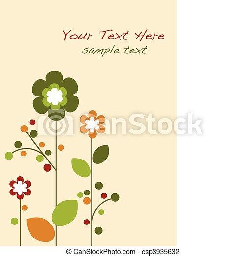 Springtime colorful flowers bloom, template design -1 - csp3935632