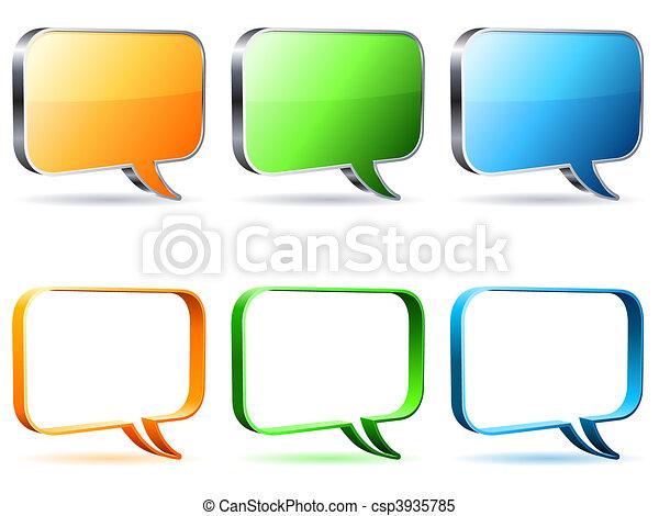 Talk bubbles. - csp3935785