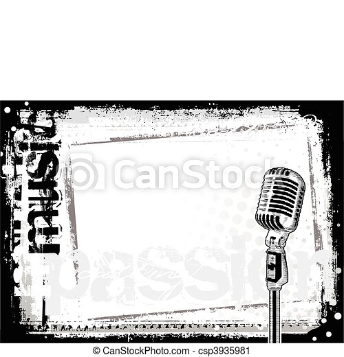 microphone background 2 - csp3935981