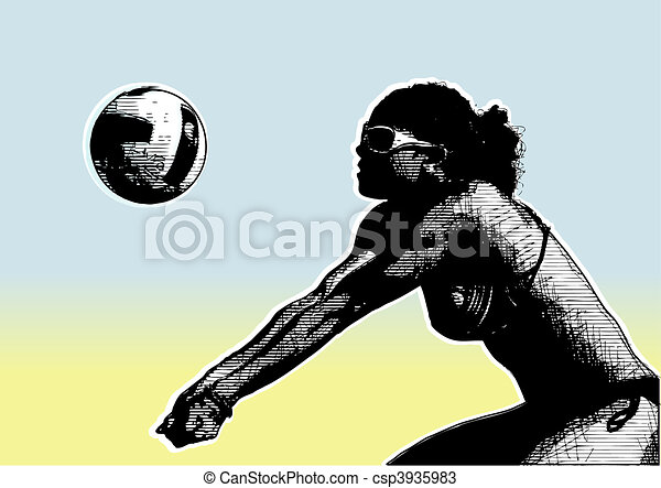 beach volley 4 - csp3935983