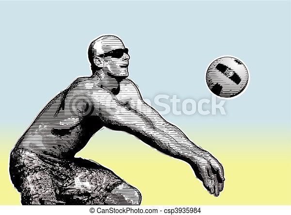 beach volley 3 - csp3935984