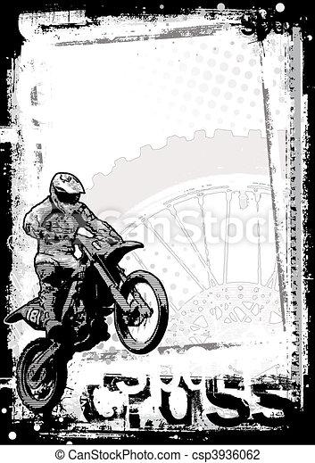 motocross background - csp3936062