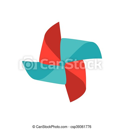 pinwheel wind toy, vector illustration - csp39361776