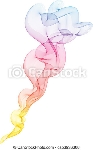 Colourful smoke effect - csp3936308