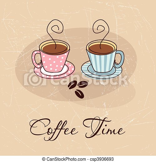Coffee time card - csp3936693