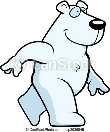 Polar Bear Walking - csp3936849